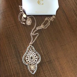 NWT-silver rose gold necklace